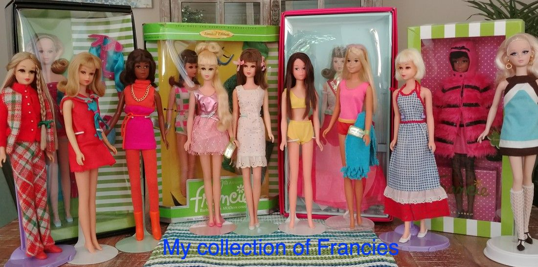 Francie Barbie doll collection