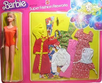 1977 Barbie and Her Super Fashion Fireworks Gift Set #9805